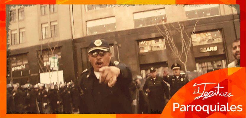 amenaza de policias